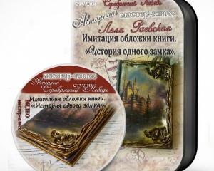 Имитация обложки книги. «История одного замка»