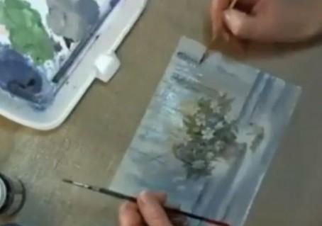 Подрисовка фактурного фона после вживления