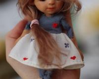 Авторская карманная кукла Фуми