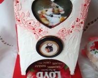 Чайный домик «Влюбленные мышки» с объемными элементами