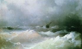 Шторм на море по мотивам картины И.Айвазовского
