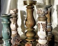 Декор подсвечников в разных стилях и техниках