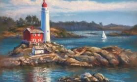 Морской пейзаж с маяком