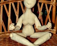 Текстильная шарнирная будуарная кукла и гардероб для неё