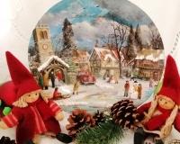 Декупаж тарелочки «Рождественская сказка»