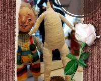 Изготовление каркаса и формирование тельца статичной куклы
