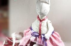 Уютные вещички. Пасхальная Зайка — оригинальная упаковка для подарка. Грунтованный текстиль