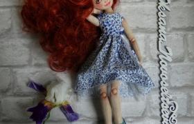 Подвижная текстильная кукла Агния