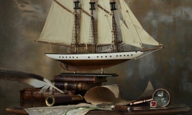 Натюрморт с кораблем