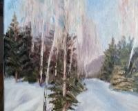 Свободная копия Зимний пейзаж Грабарь