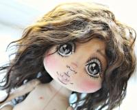 Авторский курс Александры Аглиулиной. Урок 2. Роспись  личика куклы