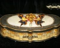 Декорирование шкатулки «Батерфляй»
