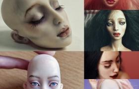 Роспись лица куклы из полимерной глины
