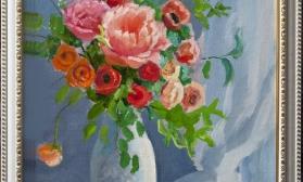 Цветочный натюрморт с розами