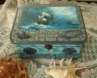 Шкатулка на морскую тему