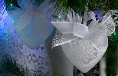 Декор новогодних игрушек «Снежинка»