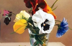 Цветочный натюрморт маслом
