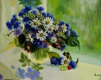 Ягодно-цветочный натюрморт
