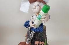Подставка для кукол - «Пенек с грибочками»