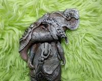 крыса в технике грунтованный текстиль