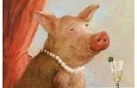 Урок Московской школы декупажа -4 курс, 9 урок. СИМВОЛ ГОДА. Свинка моей мечты. декупаж и живопись.