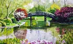 Японский мостик в саду
