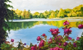 Летний пейзаж с озером