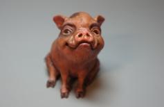 Статуэтка символа Нового года.  Лепим свинью мини-пиг