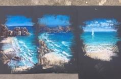 Морской пейзаж с волной